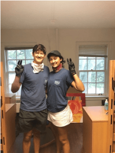 Gonzales and her brother stay positive and Pony Up when moving out of her dorm. Both attend SMU and, until now, have lived right across the Boulevard from each other