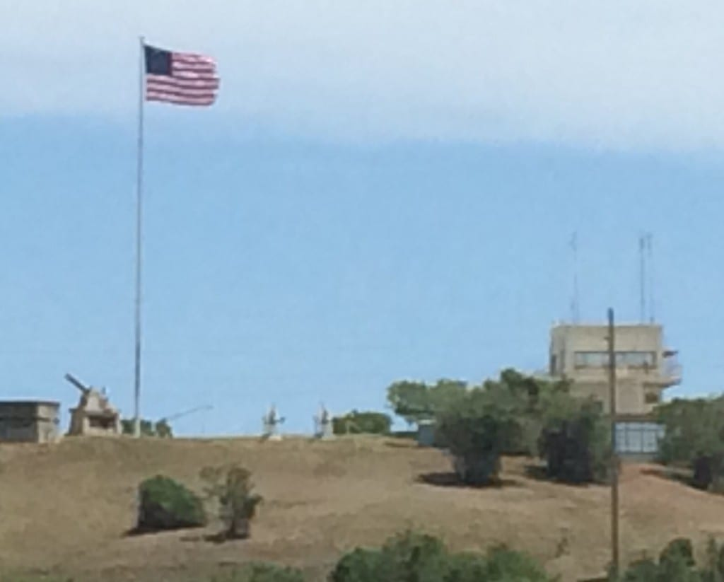 Flag on Hill