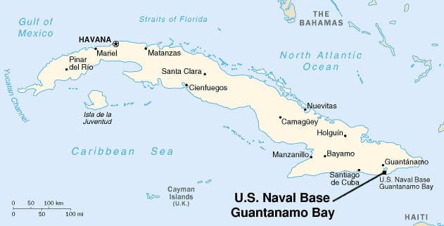 Guantanamo Why The Us Has A Naval Base In Cuba Smu Dedman - Map-of-cuba-and-us