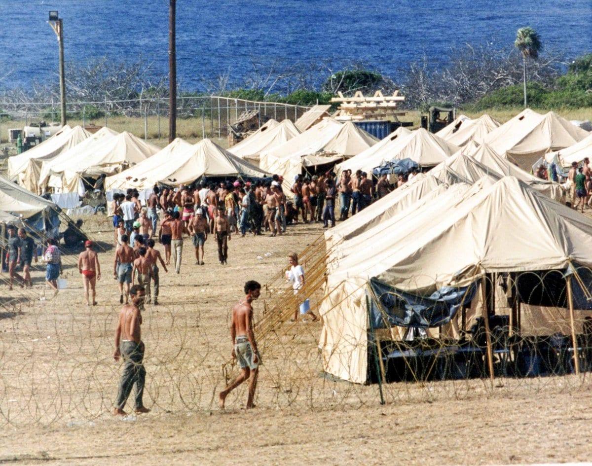 Refugee camp at Gitmo, 1990s