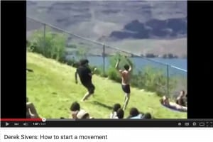 "Pic from Derek Sivers ""How to Start a Movement"" TED talk"
