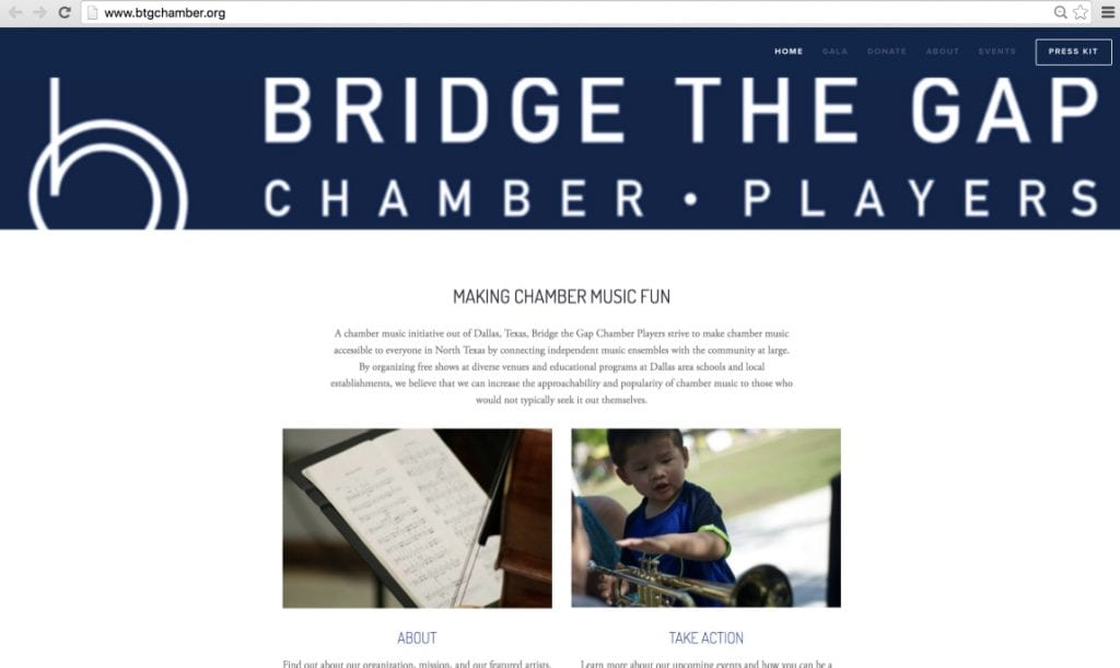 Bridge the Gap Website
