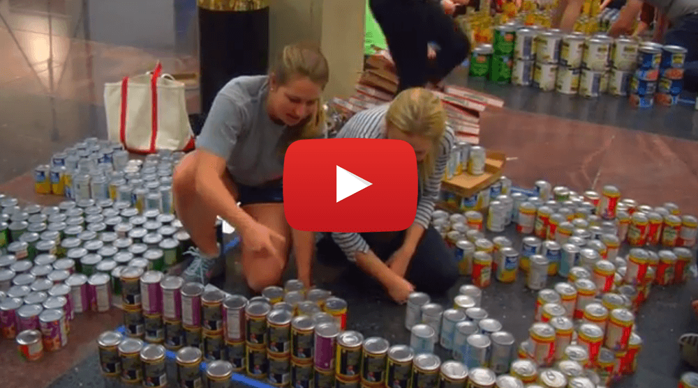 Canstruction Helps Feed the Hungry