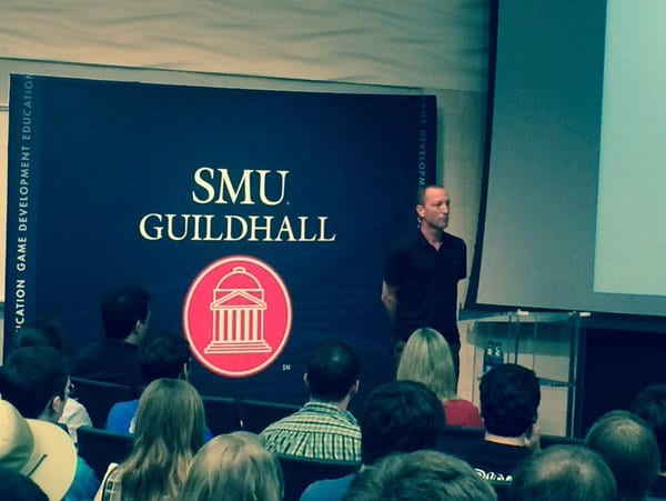 Doug Lombardi, Steam VP, with the SMU Guildhall, 2015