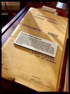 """Plunder of Art Treasures"" documentation used by the Nuremberg prosecutors."