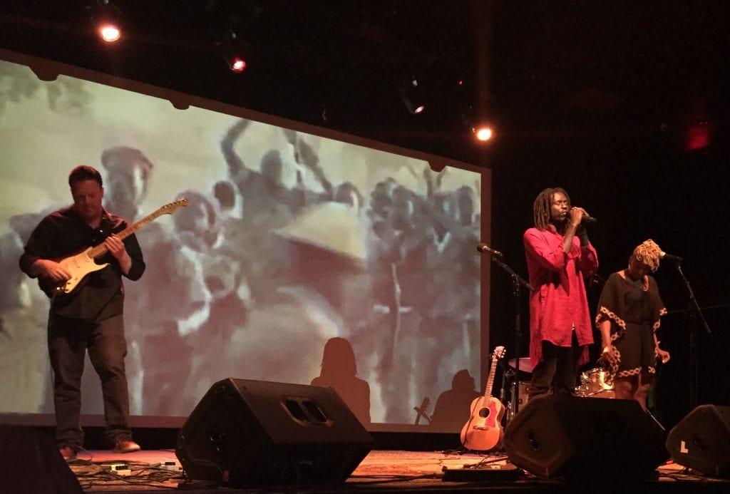 Rap artist Emmanuel Jal, former Sudanese child soldier.