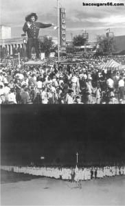 Spooky old Big Tex in the 50's and another bad memory: Ku Klux Klan day at the State Fair of Texas in the 1930s.