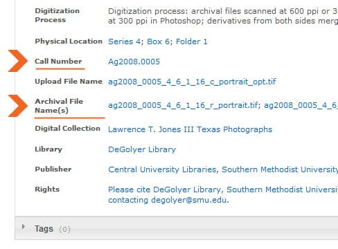 Digital Collections page