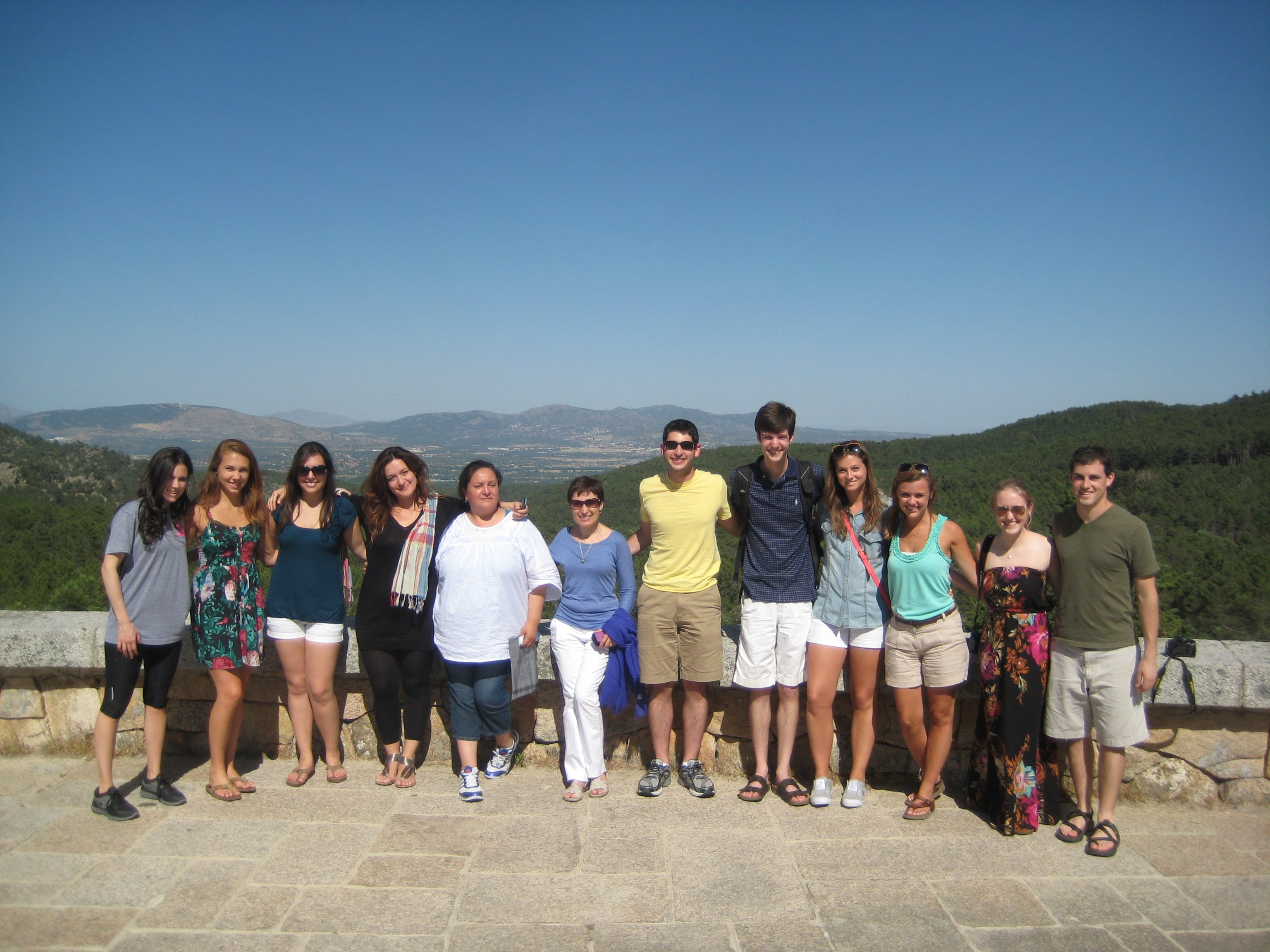 Mayra and her SMU group in Spain