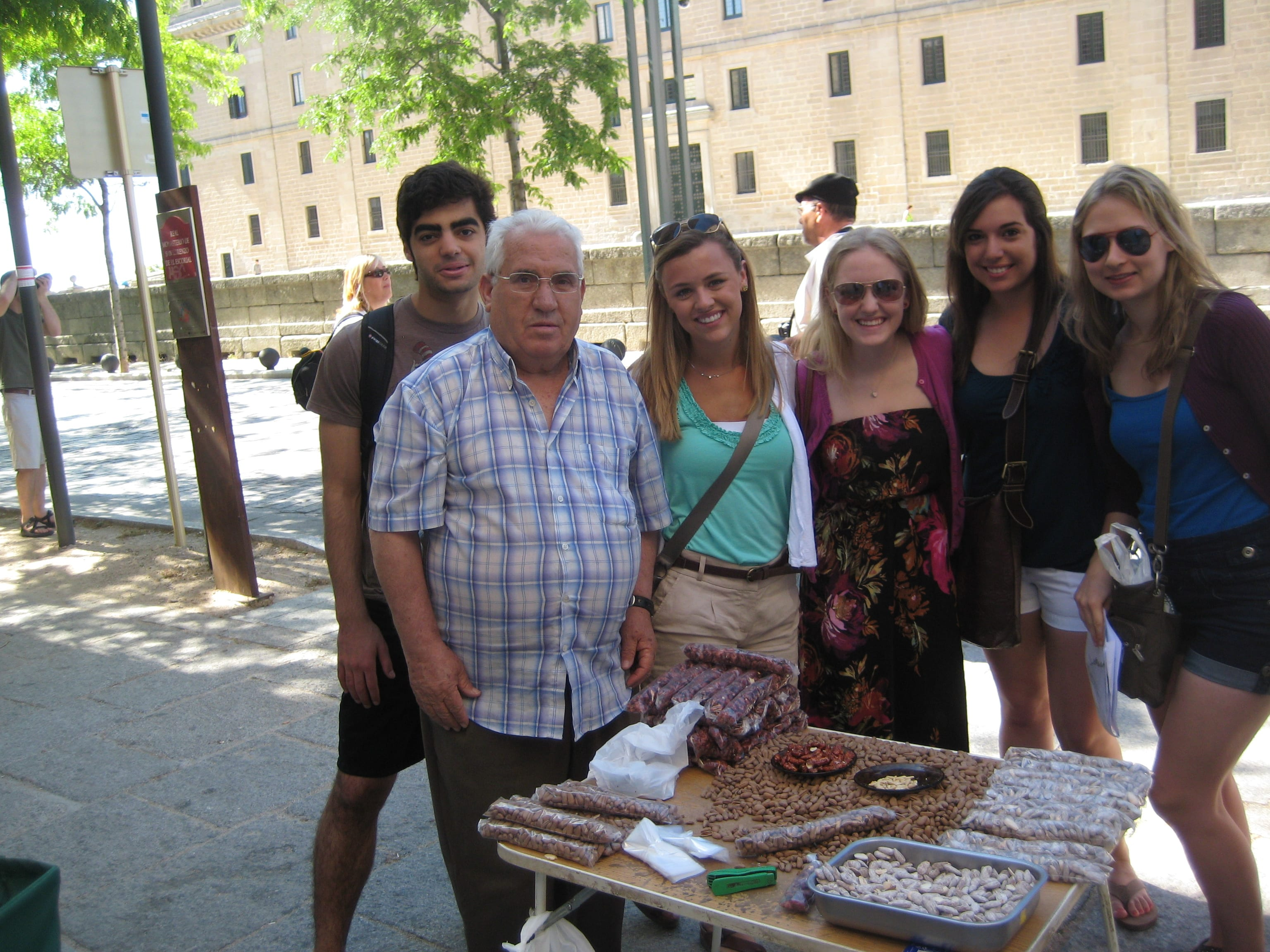 Mayra and friends at El Escorial in Spain