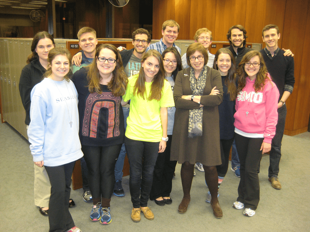 Our group with Pulitzer Prize-winning journalist Linda Greenhouse
