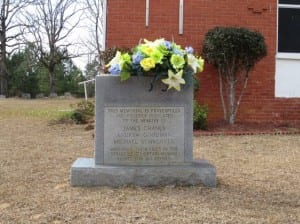 Chaney-Goodman-Schwerner memorial at Mount Zion Church, Mississippi