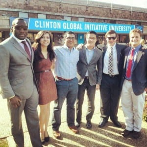 SMU students at the Clinton Global Iniative