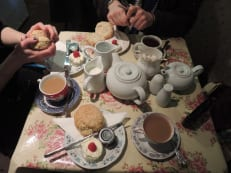We had tea - in Bath!
