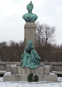 The statue of Princess Marie of Orleans in Copenhagen, Denmark.