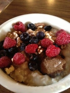 Berries are a breakfast staple in Taos; my favorite!