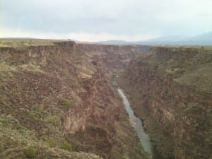 The Rio Grande gorge