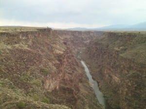The Rio Grande gorge