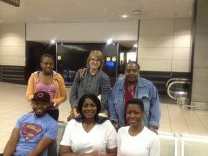 Our group at Johannesburg airport
