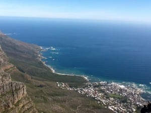 "The Cape of Good Hope (originally known as the ""Cape of Storms"") at the tip of Southern Africa. (part of the Table Mountain National Park)"