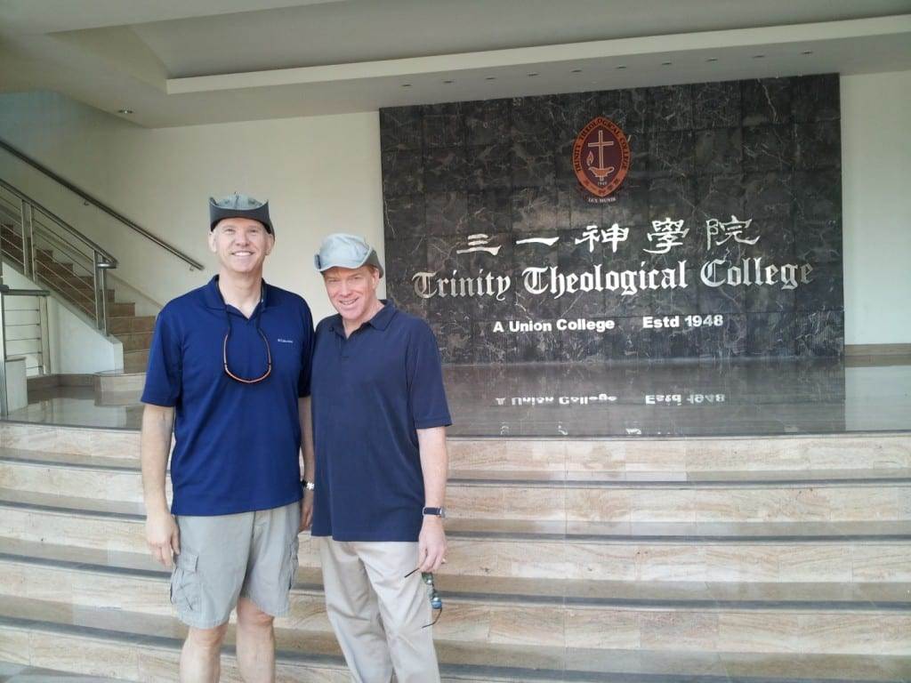 Dr. Todd Rasberry and Rev. Gary MacDonald, Perkins School of Theology faculty, are in residence at Trinity Theological College in Singapore for the July 22-Aug. 2 Doctor of Ministry session. (Photo by B. Overton)