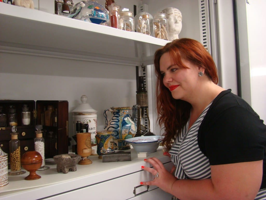 Jessica exploring the collection at the Division of Medicine and Science