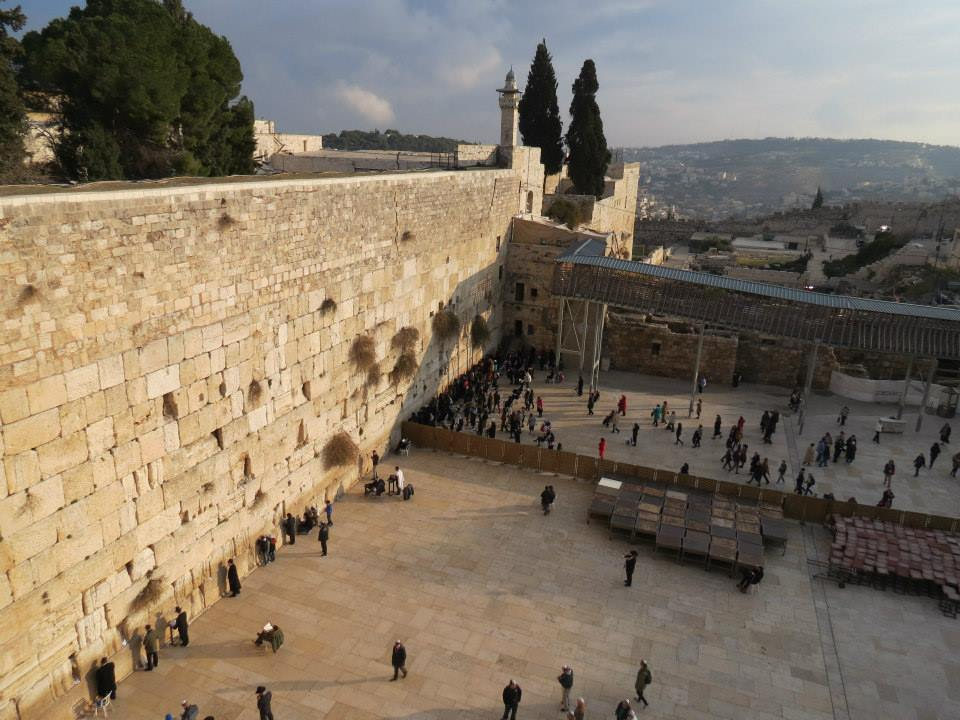 The Western Wall from above.