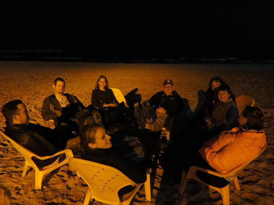 On the beach in Tel Aviv - a long day coming to an end.