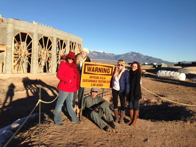 Touring the Earthship Biotecture development outside of Taos.