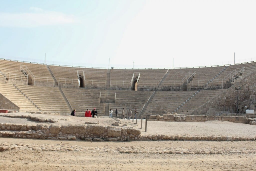 The theatre in Caesarea Maritima.
