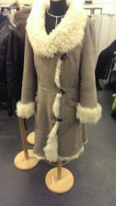 A winter coat designed by a second year student.
