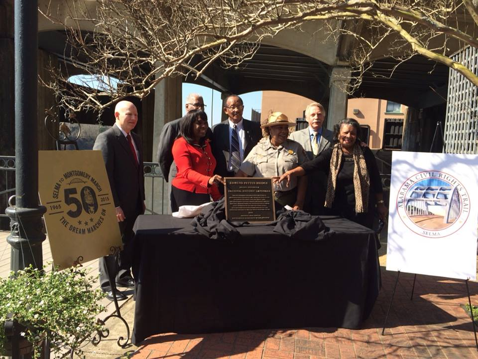 On March 11, the Edmund Pettus Bridge was officially declared a National Historic Landmark, and the pilgrims were there to witness this historic event.