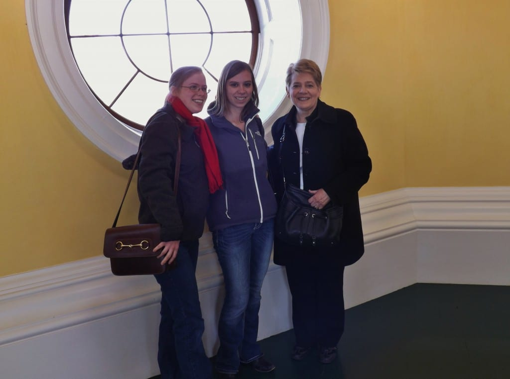 In the Dome Room at Monticello