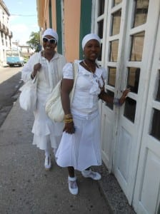 Practitioners of Santería, an Afro-Latin religion