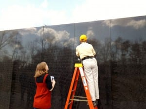 DC Vietnam Memorial Relative Name Shading