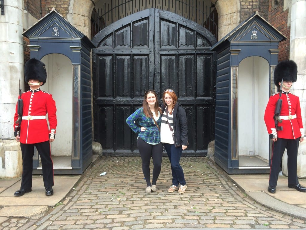 Bailee (BS Sports Management '15) and Melissa (BS English '15) at St. James' Palace.