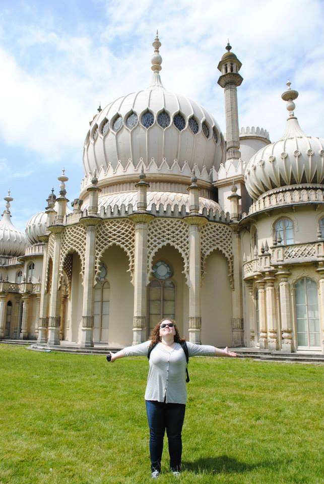 Senior theatre major Jenna at the Royal Pavilion in Brighton. Photo credit: Jenna/SMU Adventures