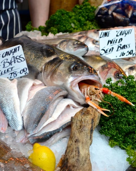 Borough Market seafood