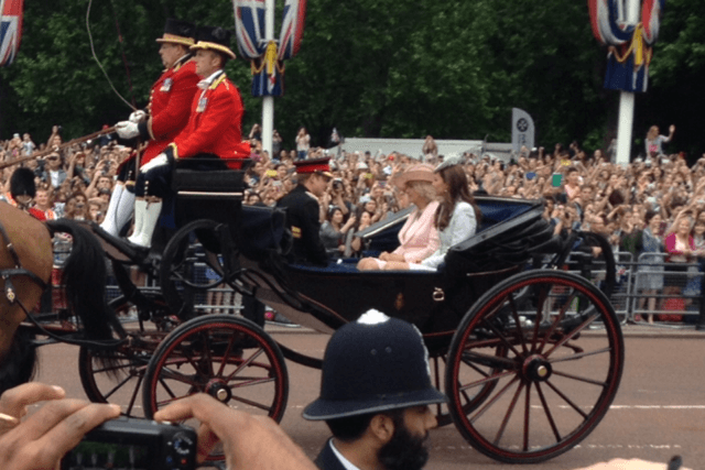 Prince Harry and Duchess Kate, Trooping the Colour, June 2014