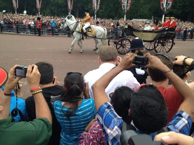 Queen Elizabeth, Trooping the Colour, June 2014