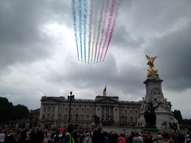 RAF flyover, Buckingham Palace, June 2014