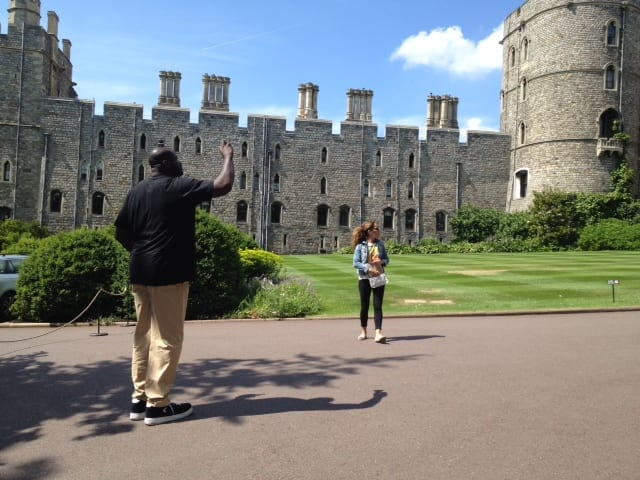Shaquille O'Neal at Windsor Castle, 2014