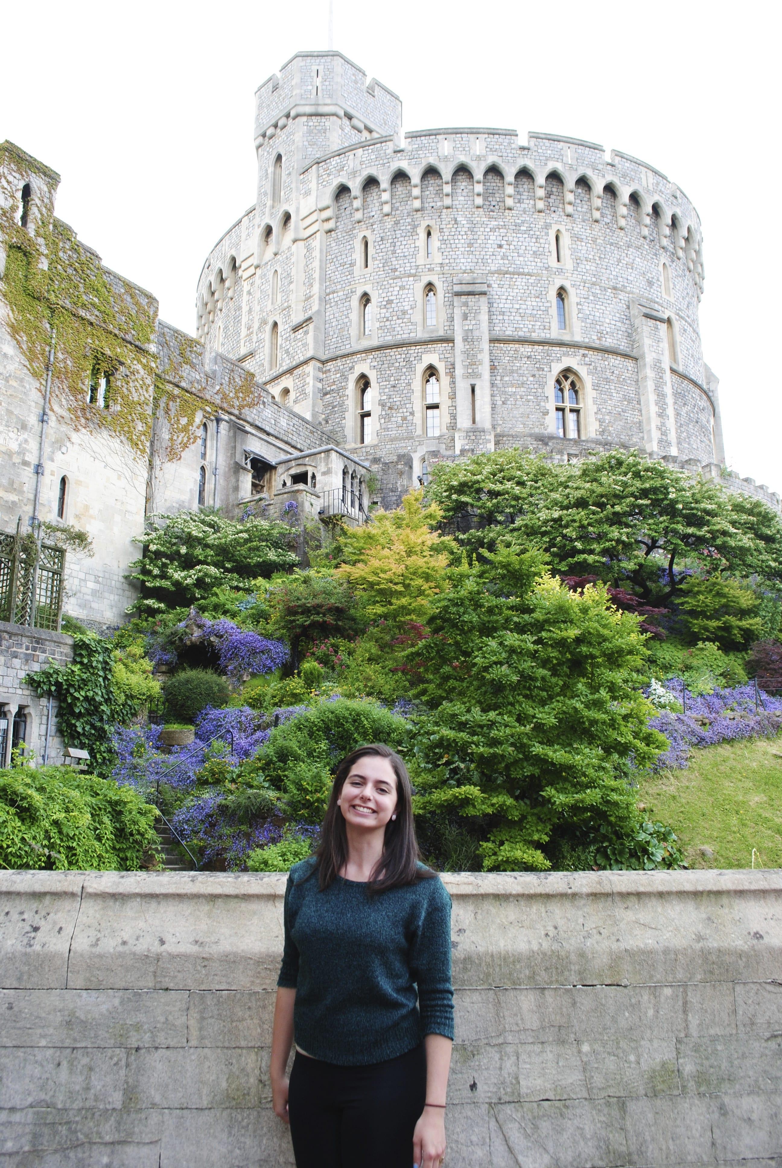 Stephanie at Windsor Castle, 2014