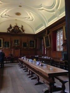 The Brasenose dining hall