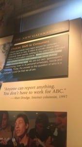 Seen in the Newseum exhibit