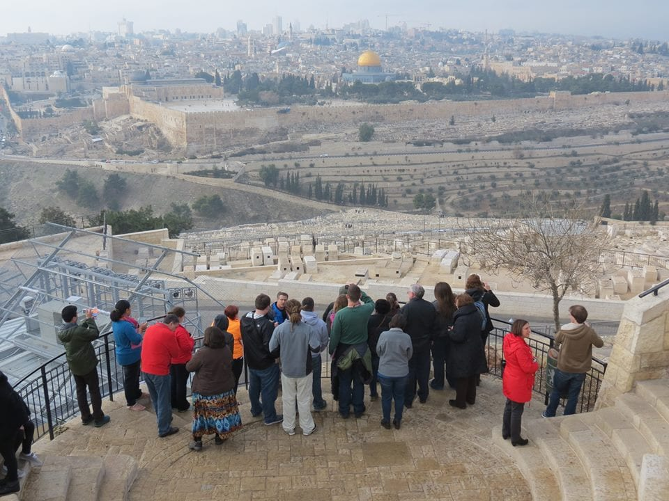 New Year's Eve on the Mount of Olives, overlooking the Temple Mount/Dome of the Rock and Jerusalem.