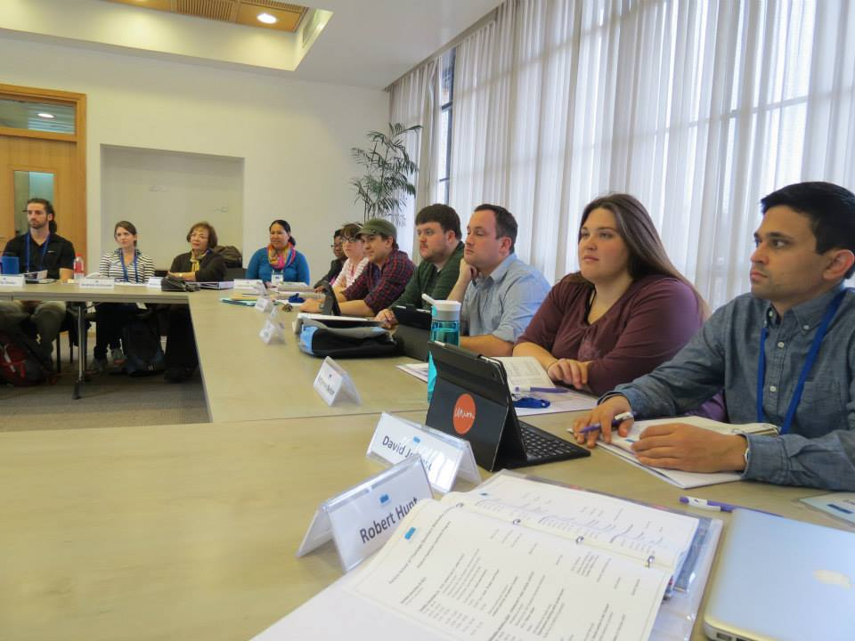 Students attending lectures at the Shalom Hartman Institute in Jerusalem.
