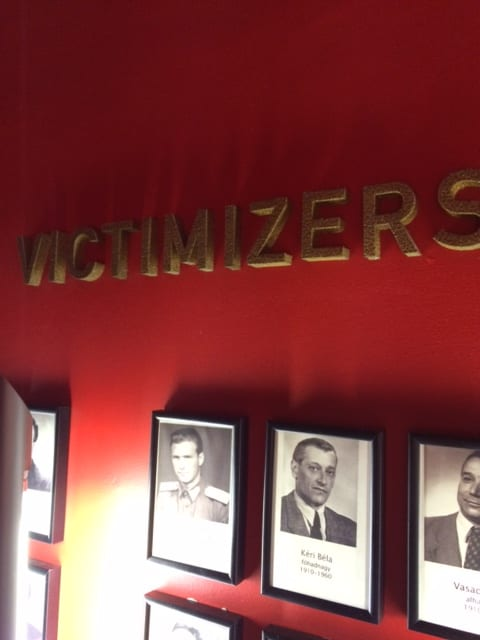 Budapest - wall of victimizers