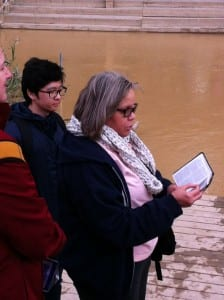 The Rev. Lorraine Brown reads the biblical account of the baptism of Jesus by John the Baptist. Photo by Connie Nelson