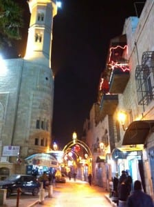 Manger Square in Bethlehem, located in the West Bank. Photo by Connie Nelson